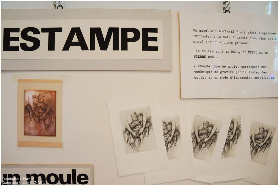 Exposition gravures Claire HENAULT