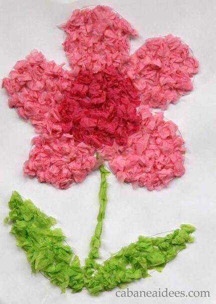Idée Pinterest : Réaliser une fleur en collage uniquement