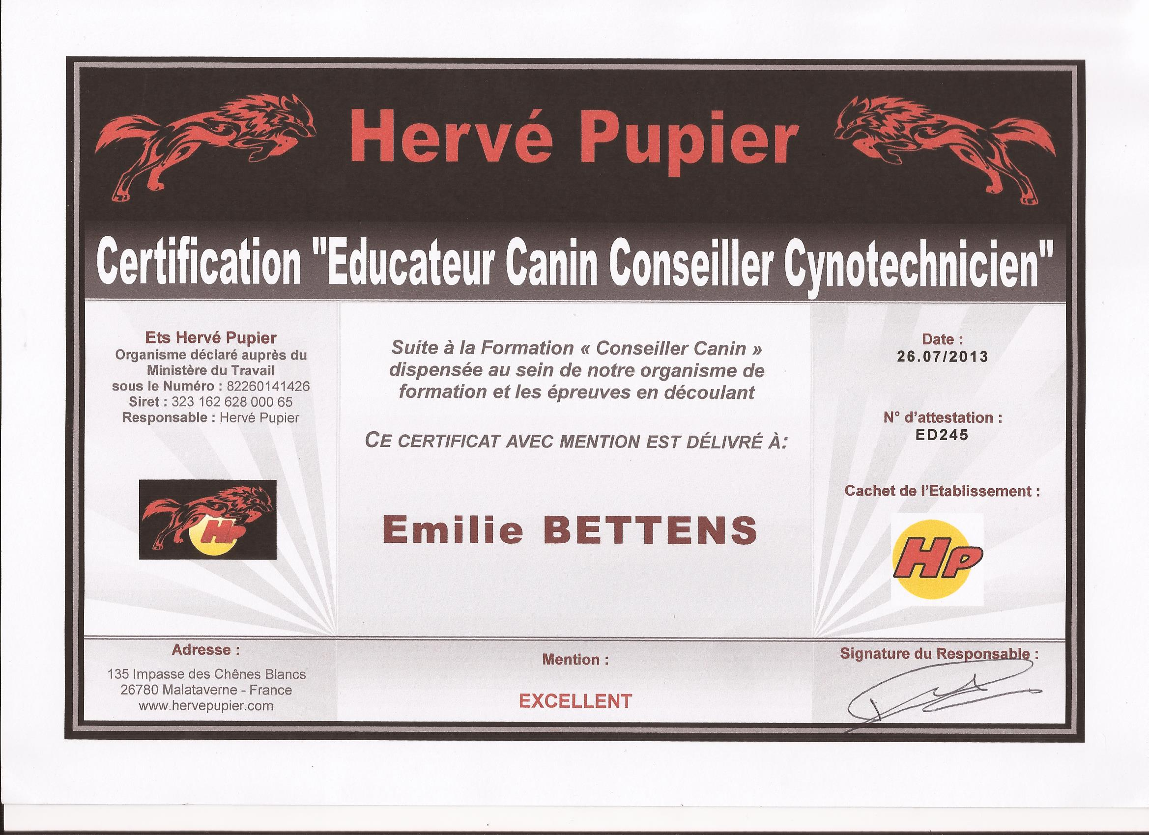 Centre Canin Emilie Bettens