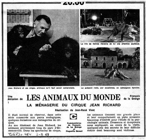 """Jean Richard à l'honneur de l'émission """""""