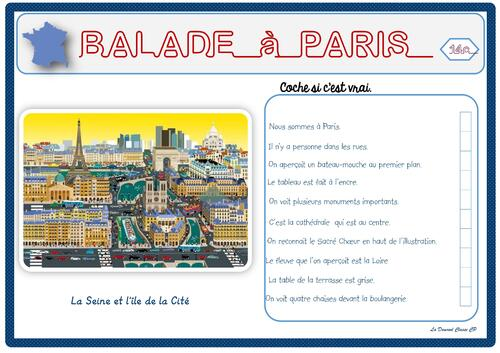 Jeu de lecture Balade à Paris