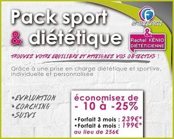 Tarifs Pack sport et dietetique