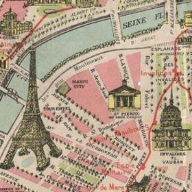 Map of Paris 1920 | Old Maps of Paris