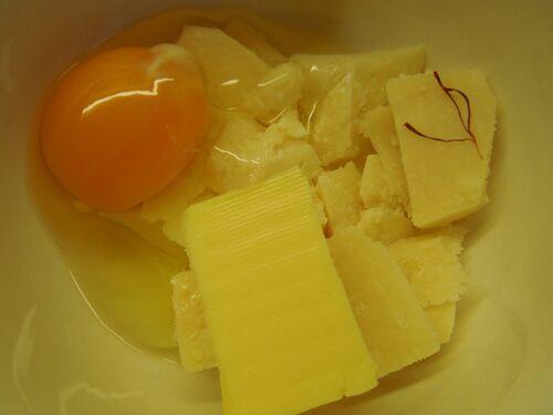 beurre safran oeuf parmesan