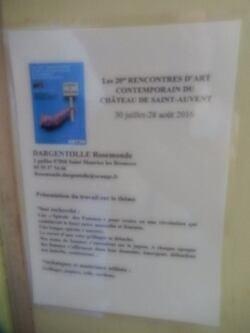 Saint Auvent: Une exposition exceptionnelle au château de Saint Auvent (87) les vingtièmes rencontres d'art contemporain ''thème la révolution''  (1/2)