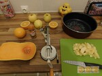 Citrouille feuilletée d'halloween ( pomme orange butternut )