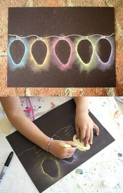 Idée arts : jeux ombres / lumière... CE2