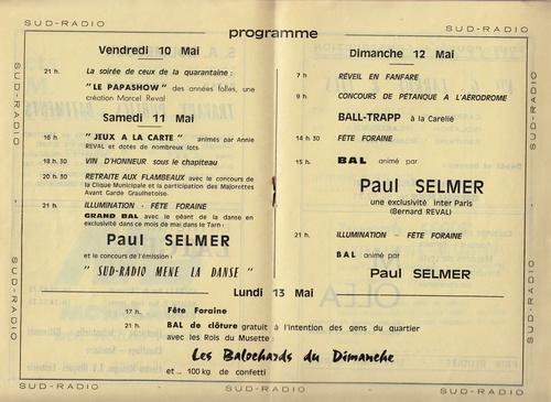 Les Fêtes du Muguet : les couvertures, les programmes et les membres du Comité de 1968 à 1979 !