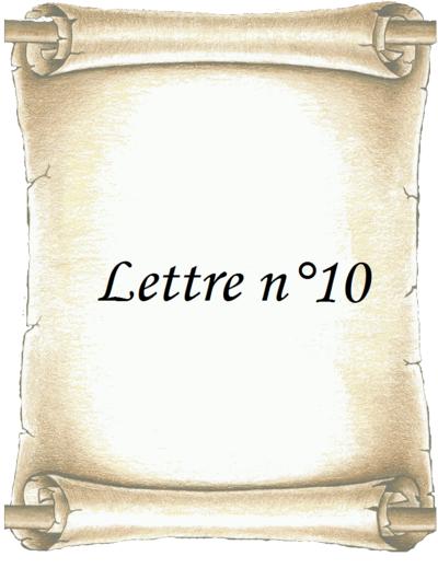 Lettre n°10
