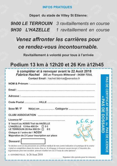 AOSIS TRAIL DE HAZELLE 2018