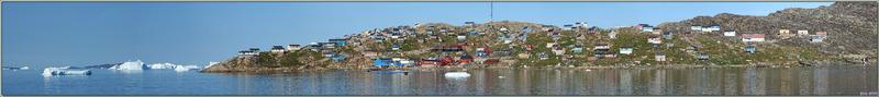Derniers regards panoramiques sur Kullorsuaq : c'était la seconde visite, y en aura-t-il une troisième ? Je ne pense pas - Groenland