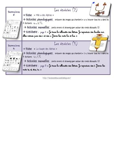 Programmation écriture GS période 3
