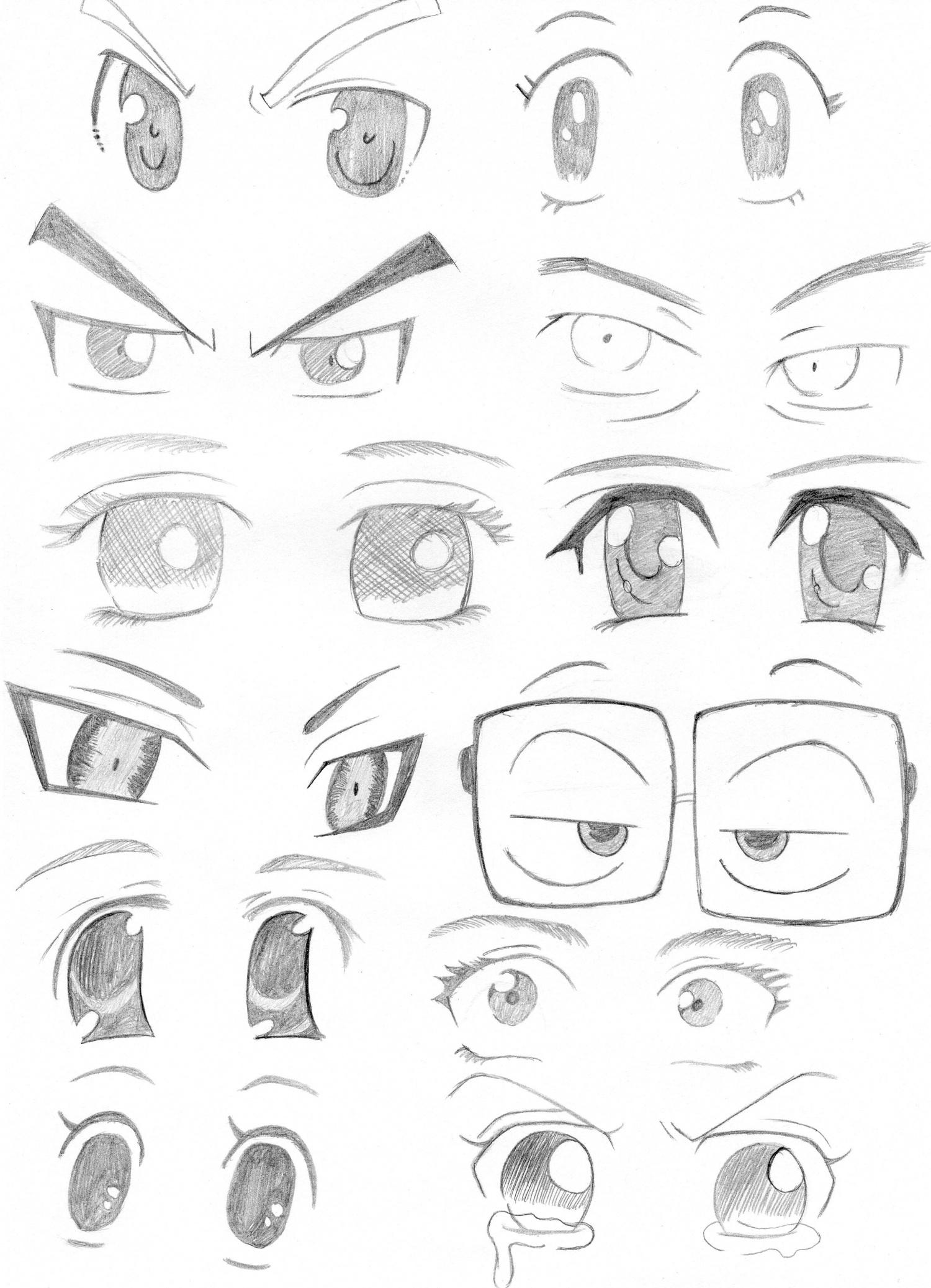 Dessins diff rents styles de yeux makiu no sekai - Style de dessin ...