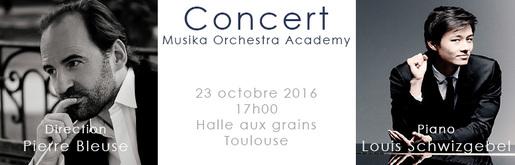 Titre affiche concert Toulouse orchestre Halle aux grains