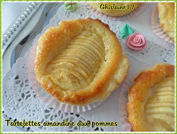 Tartelette amandine aux pommes