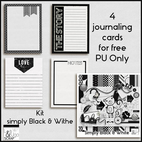 Simply Black and White par LéaUgoScrap