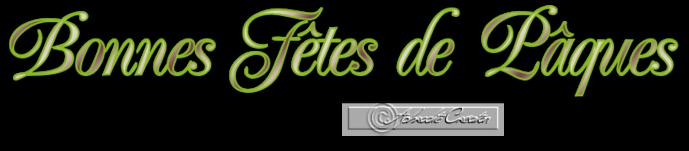 WordArt Création Perso Fête de Pâques Tableau 01