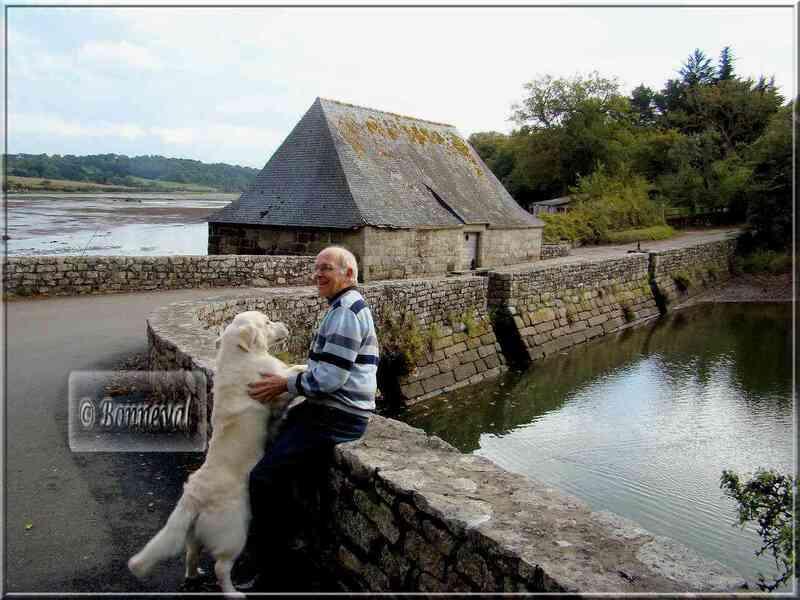 BRETAGNE Moulin à marée sur l'Aven Finistère