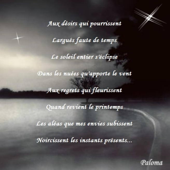 Instants noirs...