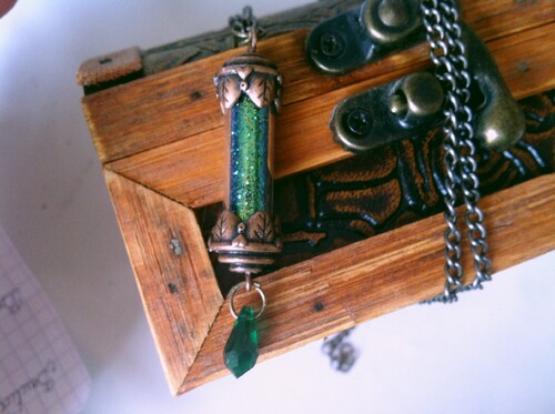 Slytherin's Sandglass necklace