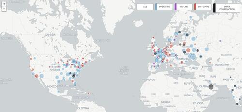 Centrales nucléaires dans le monde