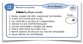 Leçons d'EDL CE2