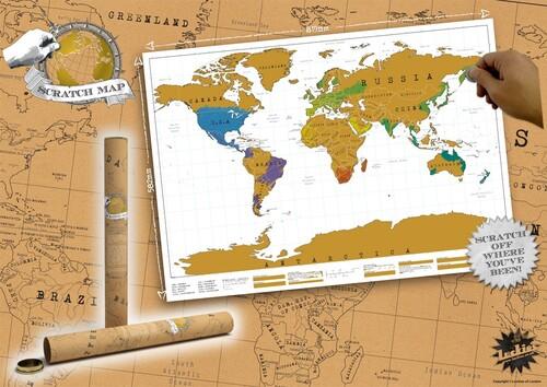 Carte du monde à scratcher