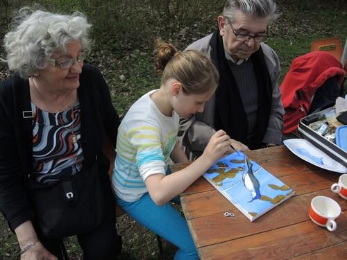 Le Groupement Jules et Emile Breton à la ferme pédagogique ce12 avril.