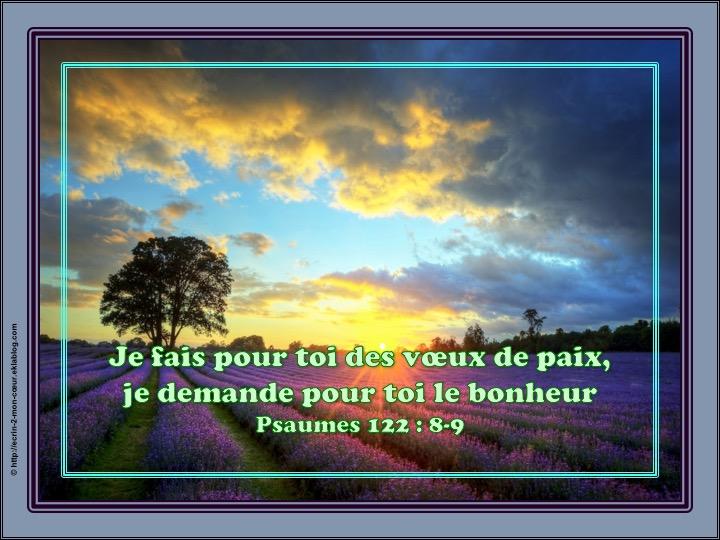 Je fais pour toi des voeux de paix - Psaumes 122 : 8-9