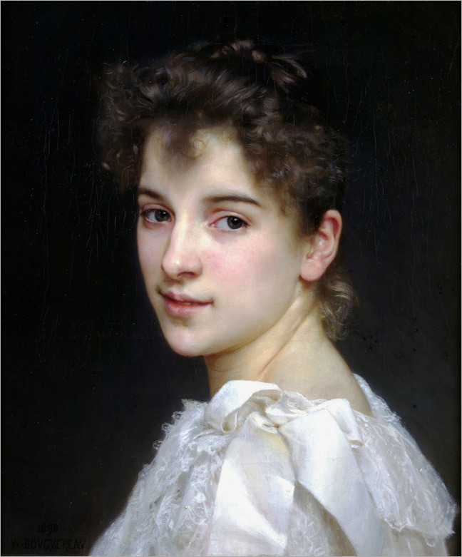 William-Adolphe-Bouguereau,-Portrait-of-Gabrielle-Cot,-1890
