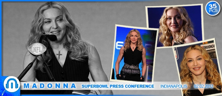 Madonna at SuperBowl Press Conference 02.02.2012