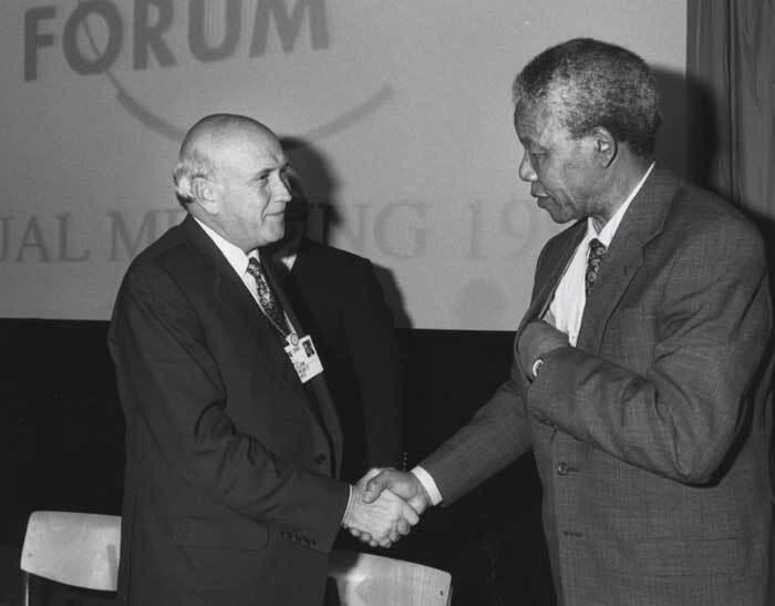 Nelson Mandela et De Klerk