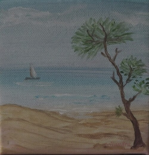 Peinture: Bassin d'Arcachon