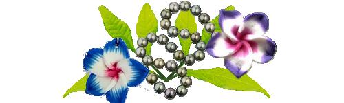 Perles et fleurs aux Marquises