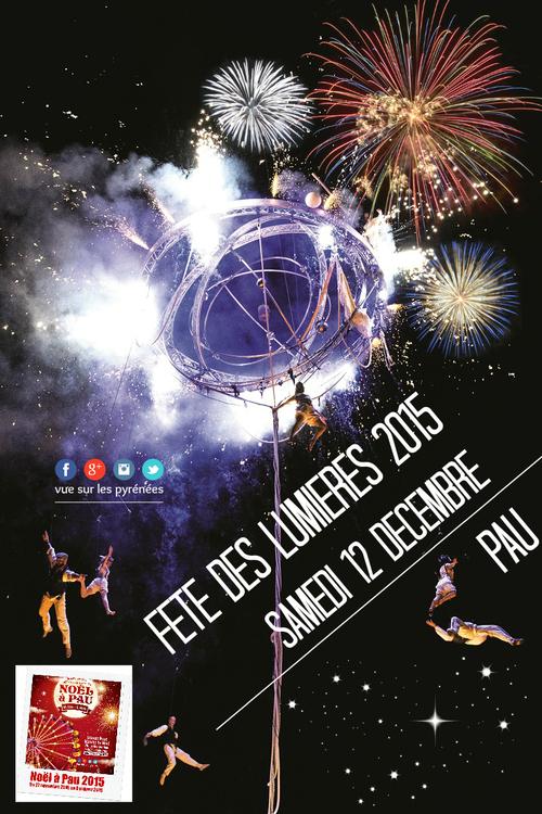 La fête des lumières Pau 2015