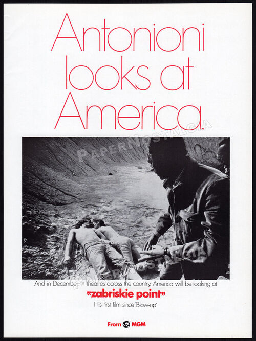 ZABRISKIE POINT BOX OFFICE USA 1970