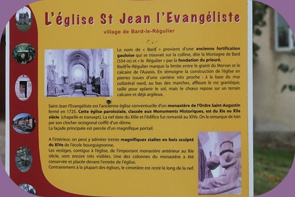 BARD LE REGULIER (CÔTE D'OR) EGLISE EN COURS DE RESTAURATION