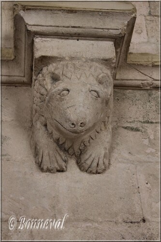 Abbaye de Montmajour cloître console au lion couché