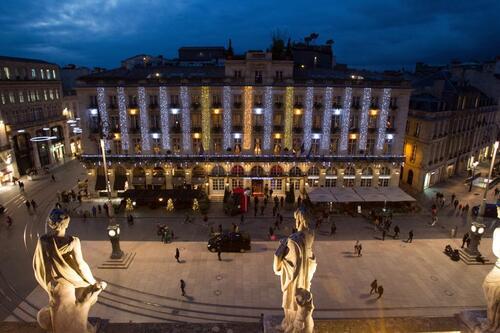 place de la Comédie, vue du toit de l'Opéra