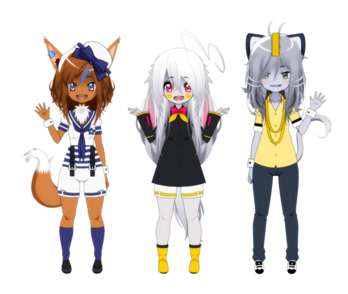 [Kisekae - Pokemaloid] 2 others Crystal's classmates