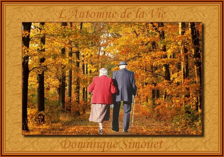 """"""" L'Automne de la vie """"  de Dominique Simonet"""