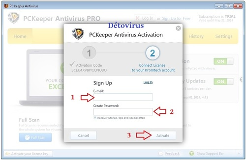 PcKeeper Antivirus - Licence 1 an gratuit