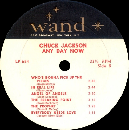 "Chuck Jackson : Album "" Any Day Now "" Wand Records LP-654 [ US ]"