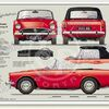 Sunbeam Alpine prints Series V 1965-68 classic car portrait