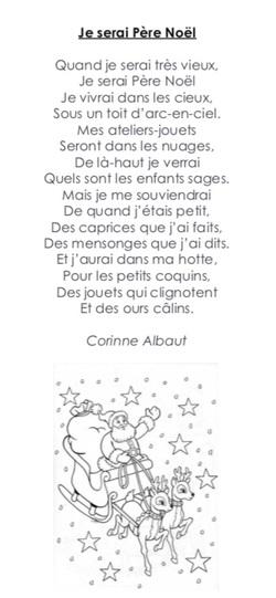 "Poésie ""Je serai Père Noël"" (Corinne Albaut)"