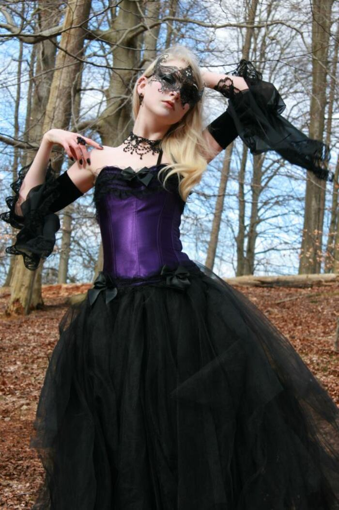 Maria Amanda, modèle goth
