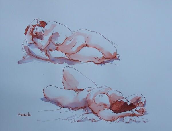 Dimanche - Deux poses couchées.