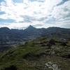 Au sommet du pico de Arlas, face aux pics du Soum Couy, Anie et Añelarra