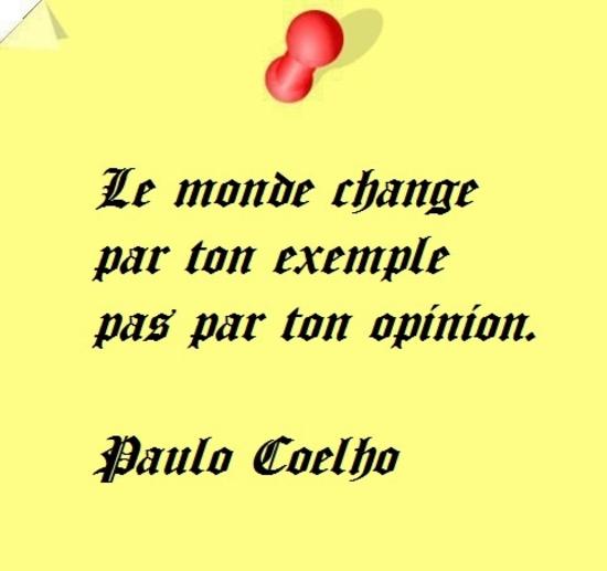 le monde change par  ton exemple