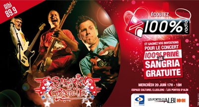 100% Showcase Sangria Gratuite à Albi